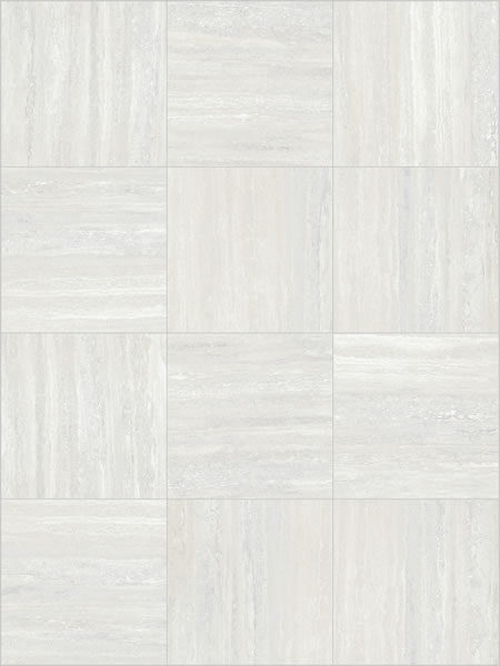 Trevino Pearl 60x60 cm Porcelain Paver with White Travertine - Directional Finish - Pattern - HDG Building Materials