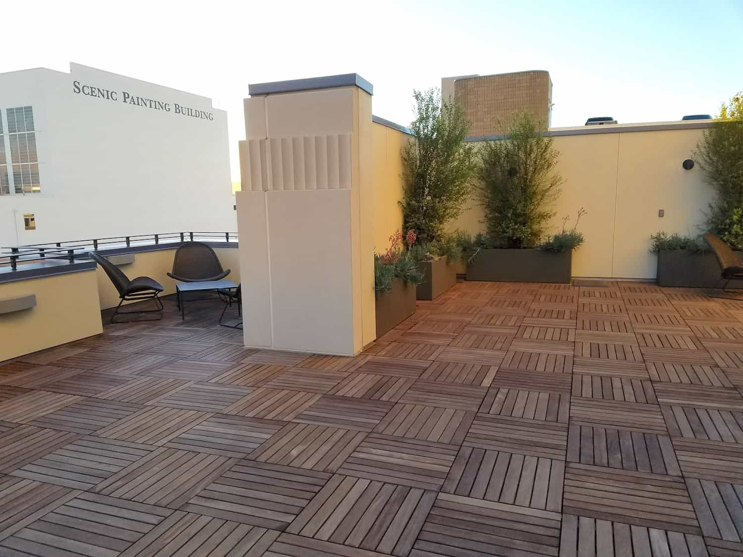 Cumaru 2x2 Hardwood Pavers Over Buzon Pedestals