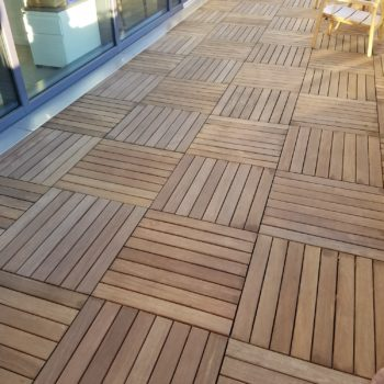 Cumaru Hardwood Pavers on Terrace - HDG Building Materials