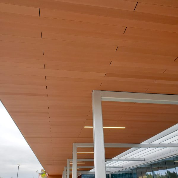 Resysta 4 Channel Hollow Core Profile in Ceiling Cladding with Hidden Fasteners