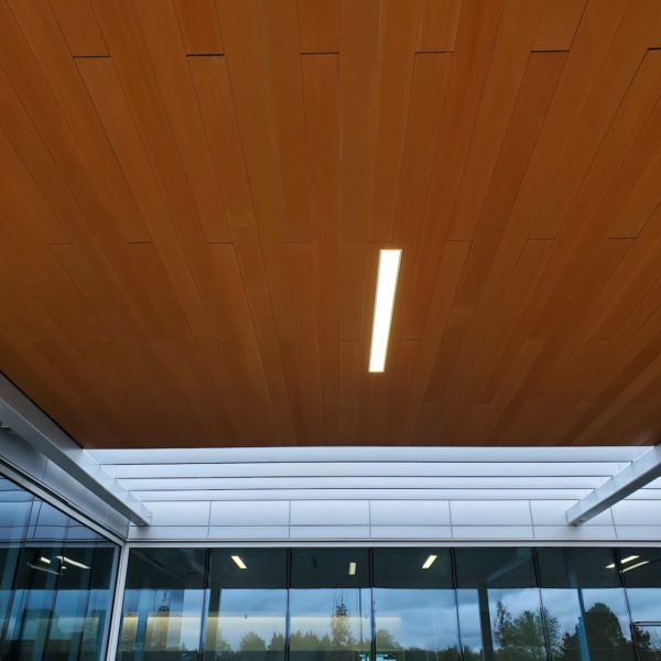 Resysta Ceiling Cladding with 4 Channel Hollow Core Profile