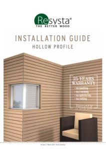 Resysta Hollow Profile Installation Guide - HDG Building Materials