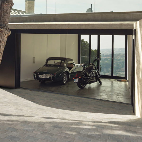 30x30 cm Centaur Grey Porcelain Paver in Garage Driveway Application - HDG Building Materials