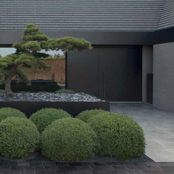 60x60 cm Centaur Grey Porcelain Paver Courtyard - HDG Building Materials