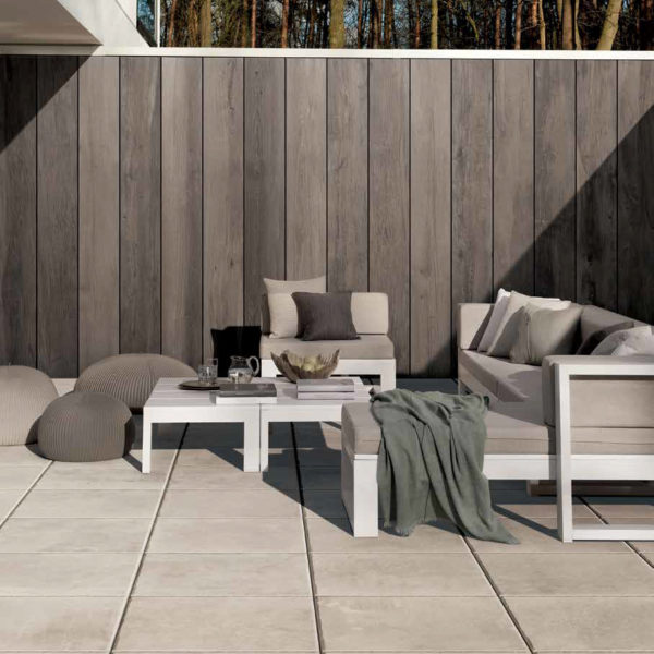 Brussa Crema 60x60 cm Porcelain Paver Floor in Outdoor Living Room - HDG Building Materials