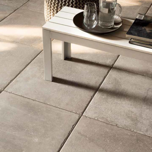 Brussa Crema 60x60 cm Porcelain Paver in Outdoor Living Room - HDG Building Materials