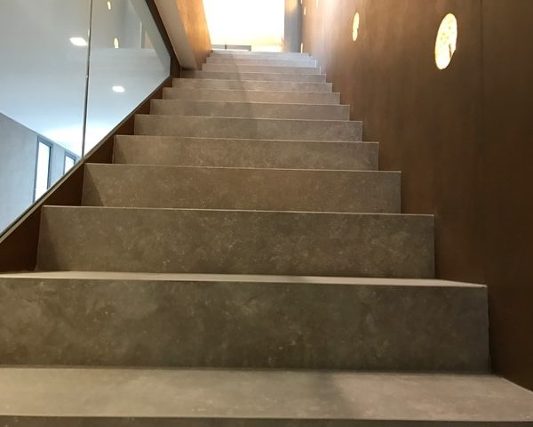 Brussa Crema Porcleain Paver Stairs - HDG Building Materials