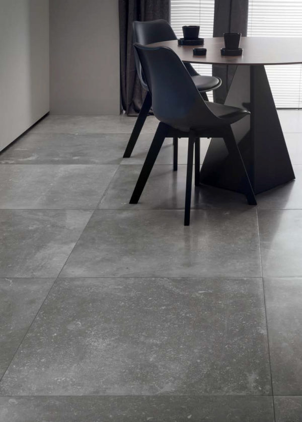 Flooring Application with Centaur Grey 60x60 cm Porcelain Pavers - HDG Building Materials