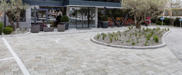 Hotel Srtoblhof Silas Gold 20x20 cm Silver White and Silver Grey 20x30 Porcelain Pavers - HDG Building Materials
