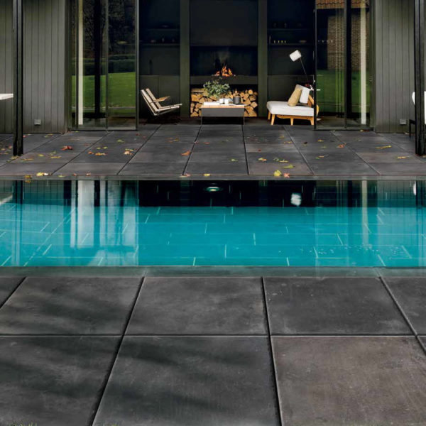 Pool-Surround-with-60x60-cm-Namo-Black-Porcelain-Paver - HDG Building Materials