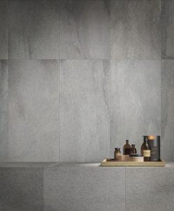 Silas Rain 30x120 Porcelain Tile Wall Application - HDG Building Materials