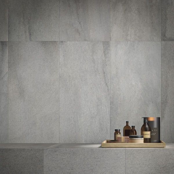 Silas Rain 30x120 Porcelain Tile Wall Application - HDG Building Materials