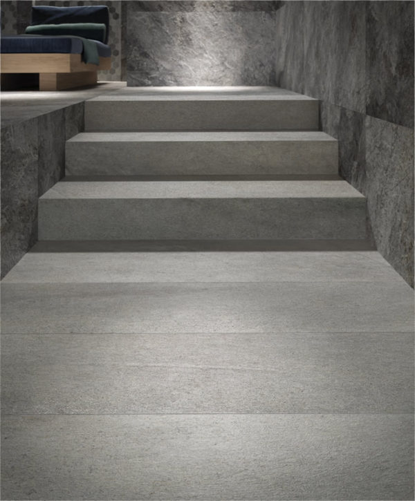 Silas Rain Porcelain Pavers for Stairway Application - HDG Building Materials