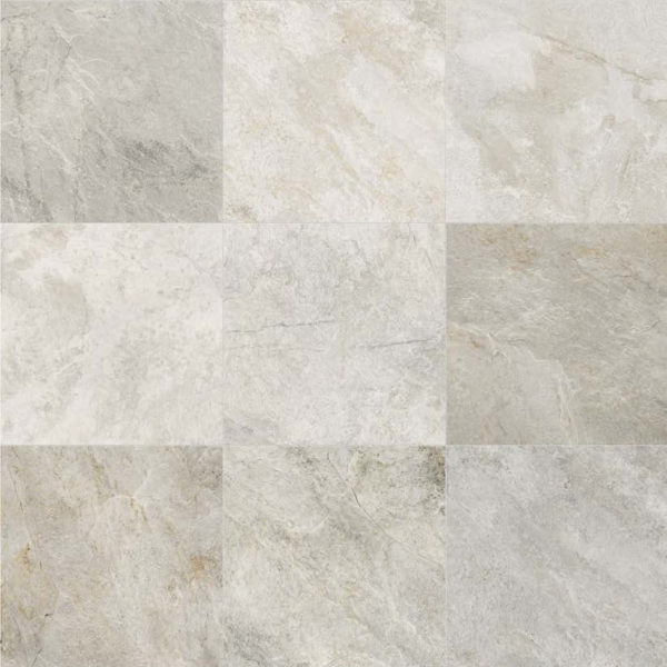 Silas White 60x60 cm Pattern showing V4 Color Variation - HDG Building Materials