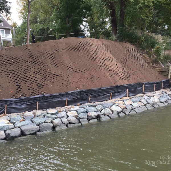 SlopeGrid Geosynthetic Material as Alternative to Retaining Wall