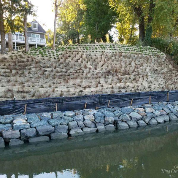 SlopeGrid Retaining Wall with Vegetation