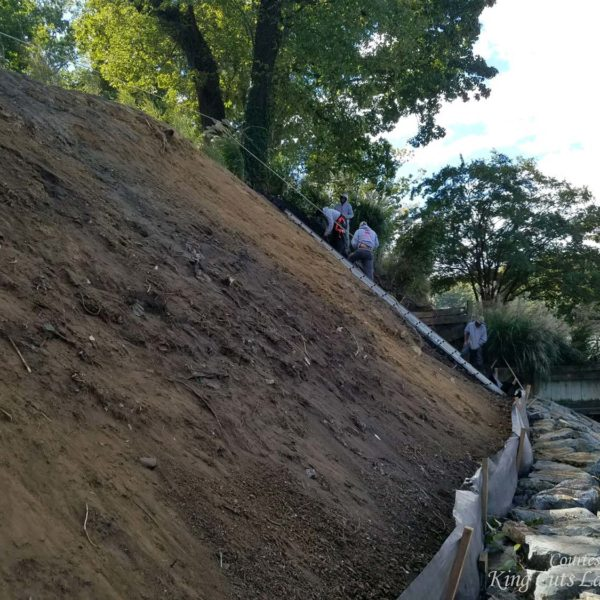 SlopeGrip to Protect Steep Shoreline Slope from Erosion