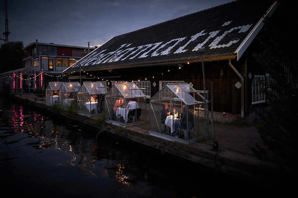 Outdoor Greenhouse Dinning Spaces at Mediamatic ETEN in Amsterdam redux