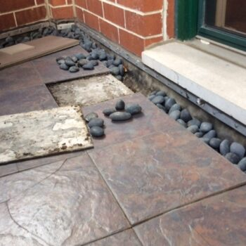 Before Picture of Residential Terrace Makeover