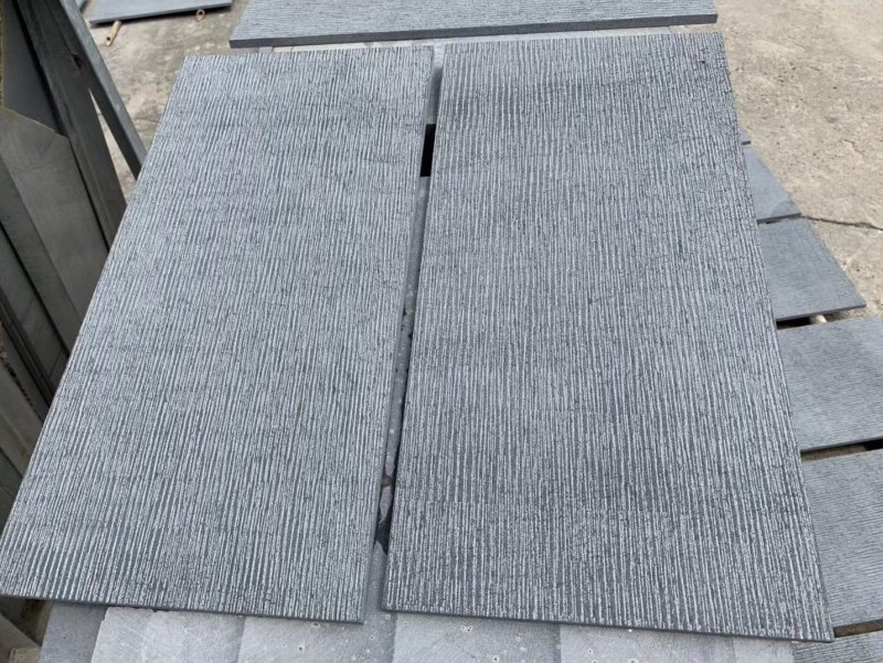 Poipu Black Basalt Coarse Adze Finish - HDG Building Materials