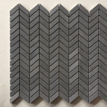 Poipu Black Basalt Herring-Bone or Chevron Pattern - HDG Building Materials