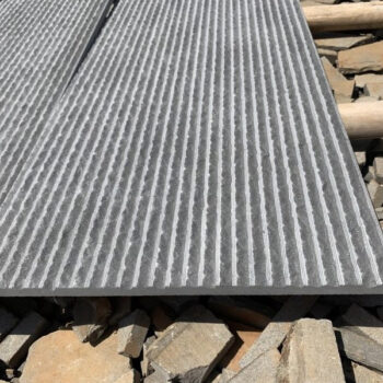 Poipu Black Basalt Scored-and-Chiseled Finish - HDG Building Materials
