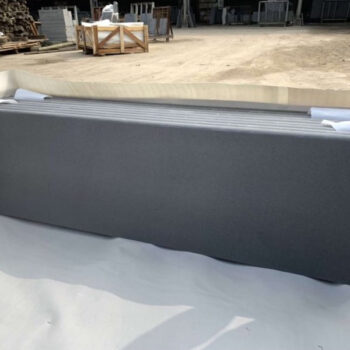 Poipu Black Basalt Slabs with Bullnosed-Edge - HDG Building Materials