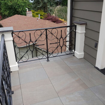 HDG Pietra Kaia Blue Bluestone Look Balcony Remodel - HDG Building Materials
