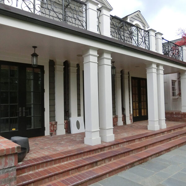 Porcelain Paver Balcony Redesign Matches Bluestone Look in Courtyard Entrance - HDG Building Materials