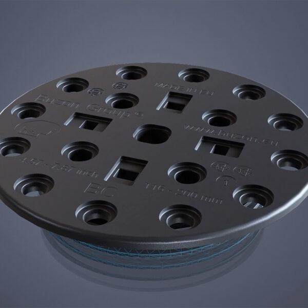 BC Series Pedestal Top Can Take Rectangular or Circular Spacer Tabs