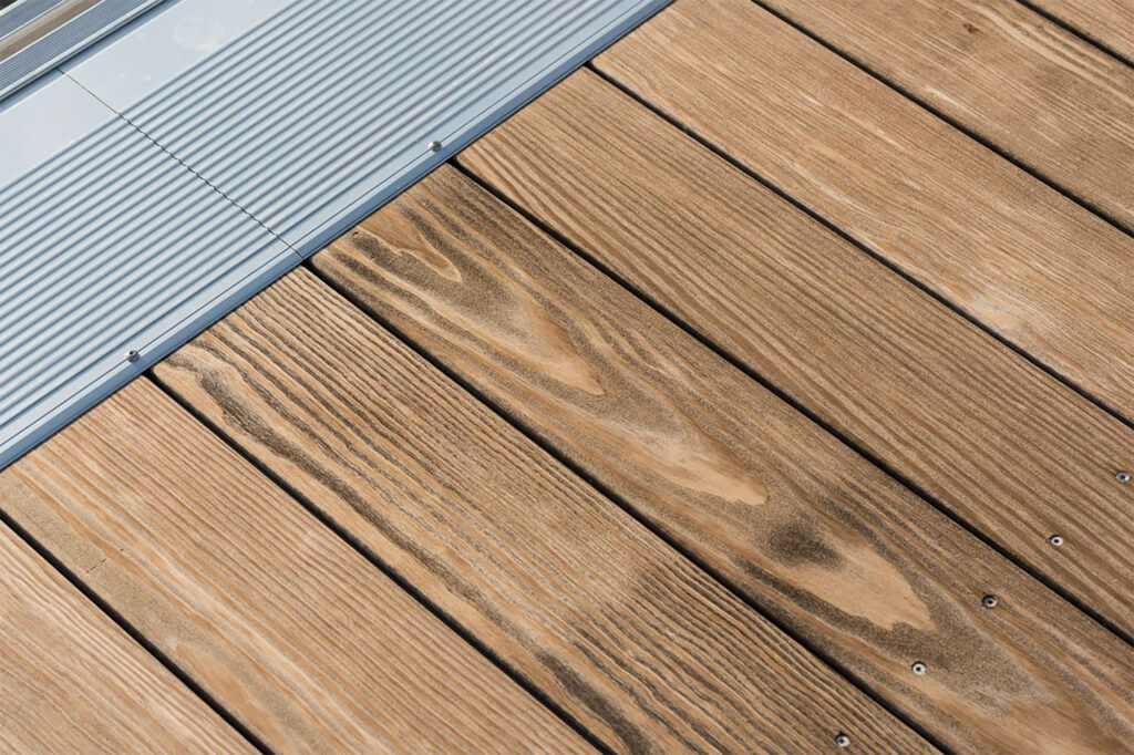 Kebony Decking Installation at Marina - HDG Building Materials