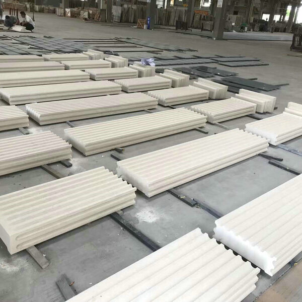 Fluted Natural Limestone Pillaster for Building Architecture