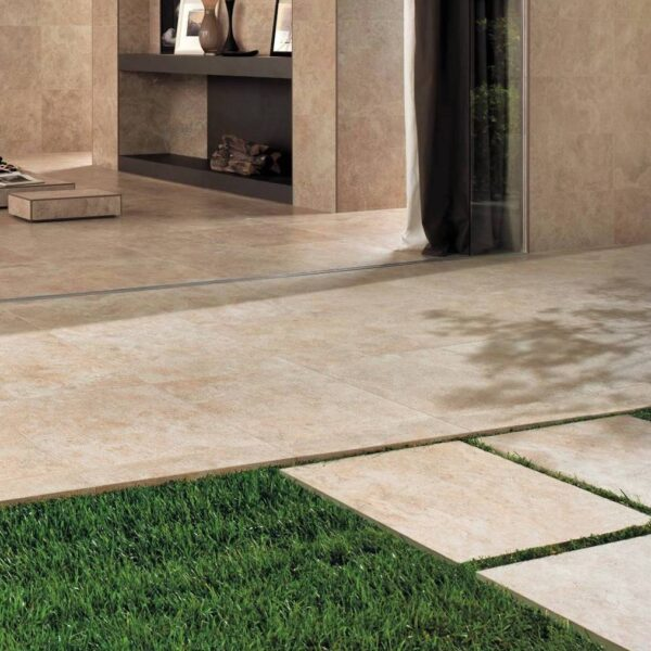 Design with Porcelain Pavers Inside and Outside