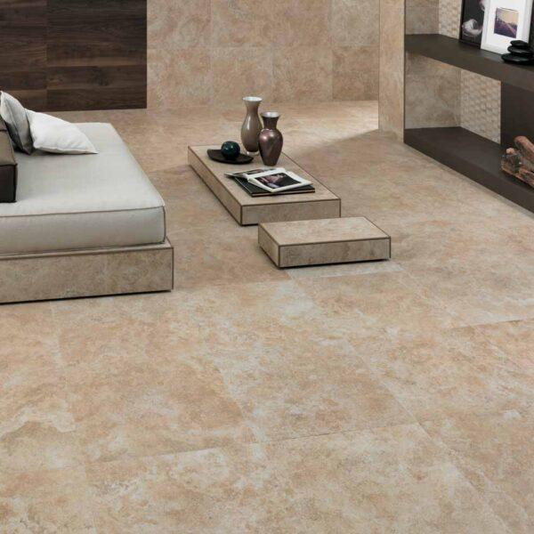 Indoor Flooring Applications Using Calcare Beige Porcelain Pavers