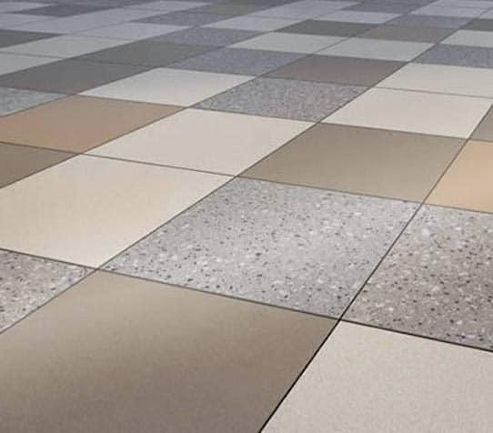 Patchwork Concrete Look Porcelain Pavers - 60x60cm Metro Rust - Metro Brown - Metro Tan - Terra Gravel Pattern
