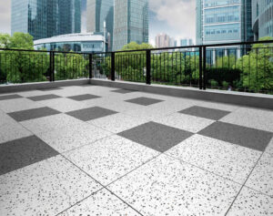 Rooftop Deck with Terra White and Terra Basalt Porcelain Pavers