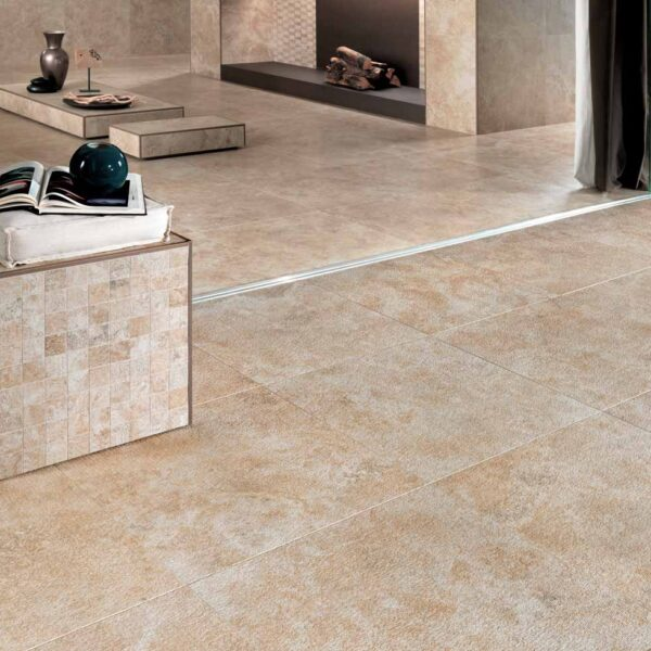 Smooth Transition from Indoor Porcelain Tile to Outdoor Porcelain Pavers