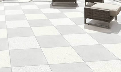 Terra Cream and Terra Grey Porcelain Pavers Layout