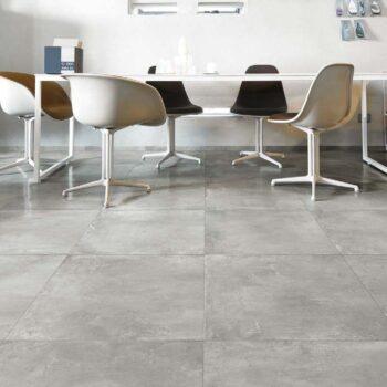 60x60 cm Cemento Ash Porcelain Paver with Textured Concrete Finish