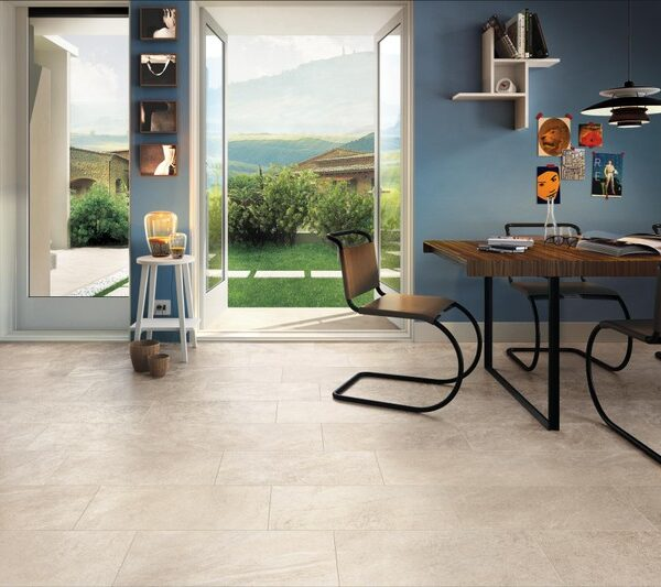 Bianca Porcelain Paver Entry to Outdoor Patio