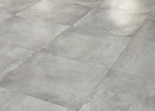 Cemento Ash Textured Concrete Finish Porcelain Paver Installation