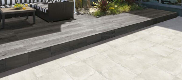 Cemento Chalk 24x24 Porcelain Paver Terrace Blended Design