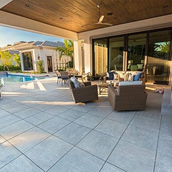 Cromo 60x60cm 20mm Thick Porcelain Pavers Outdoor Dining Area