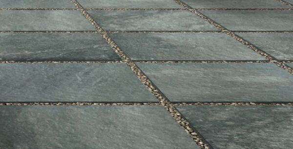 Fusa Grey Porcelain Pattern in Gravel