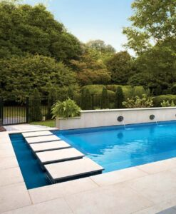 Fusa Luna 24x24 in Porcelain Pavers in Pool Surround Application