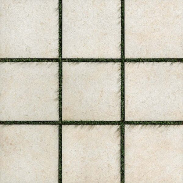 Fusa Luna Porcelain Paver Layout Over Grass