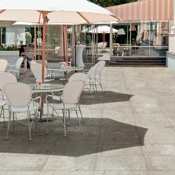 Hospitality Design with Fusa White Porcelain Pavers