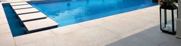 Pool Decking Application with Fusa Luna 60x60 in Porcelain Pavers Feature