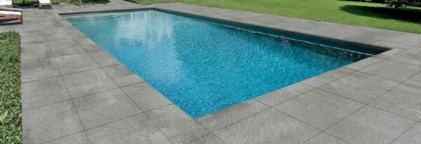 Pool Surround with Fusa Ash 60x60 cm Porcelain Paver Feature
