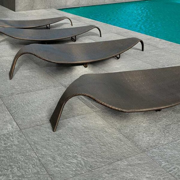 Pool Surround with Fusa Manhattan 60x60 cm Porcelain Pavers